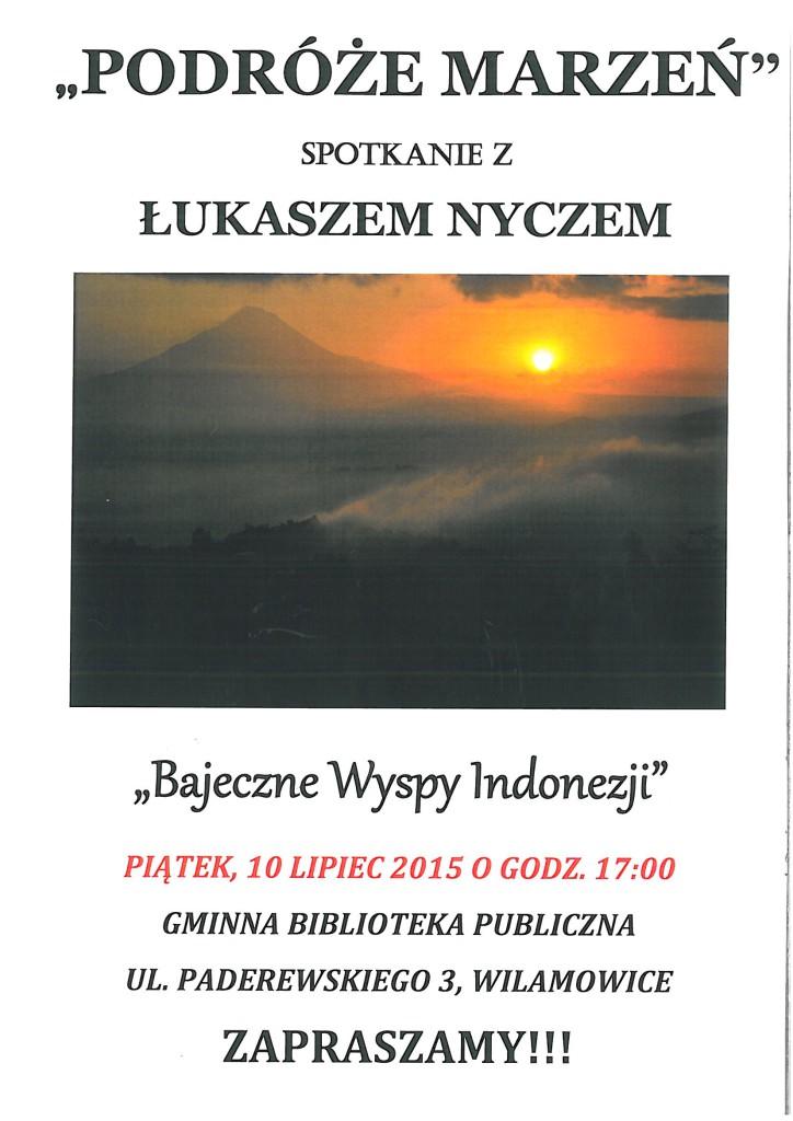 Plakat spotkanie z podróżnikiem